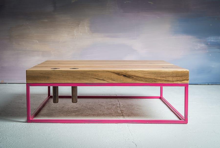 Pink metal boxes